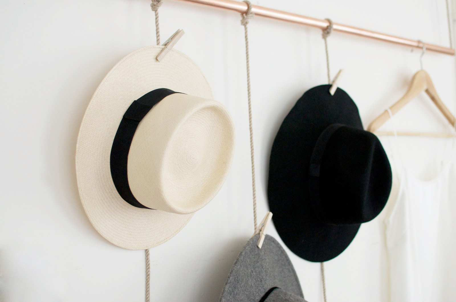 Hat Rack with Clothes Pin