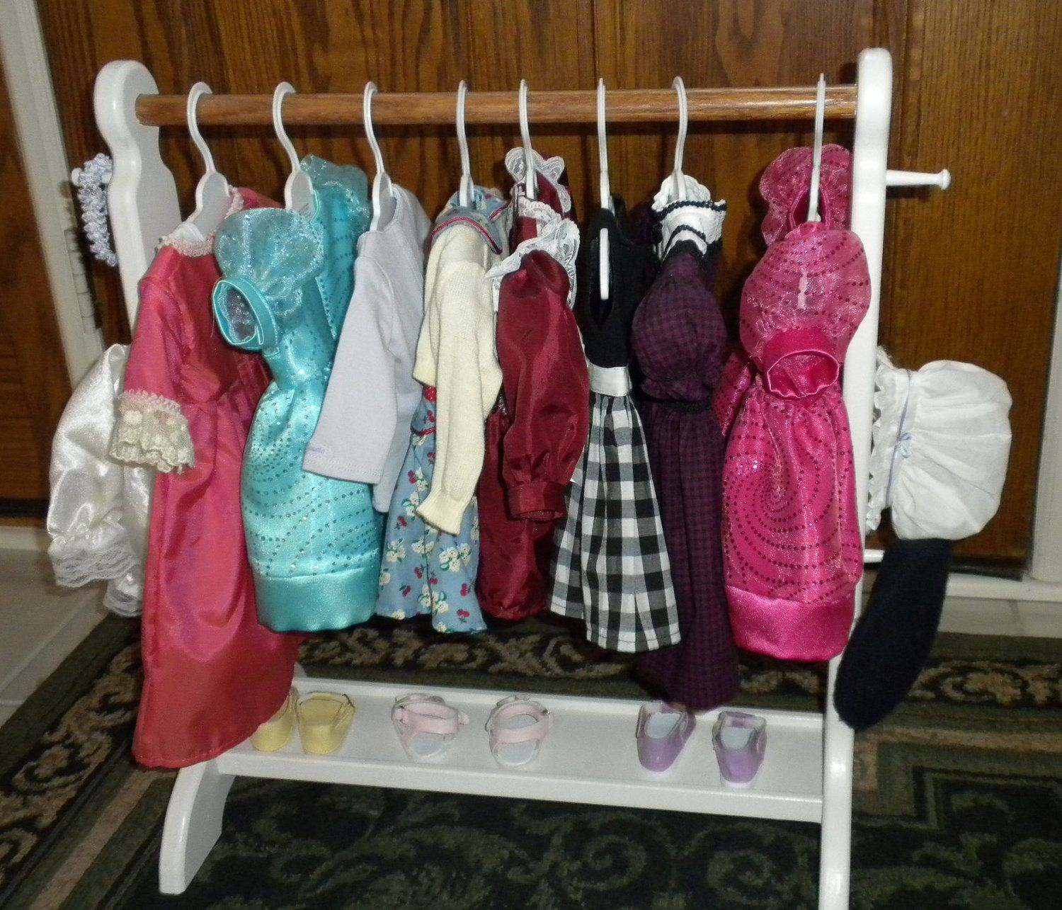Mini Rack for Doll Clothes