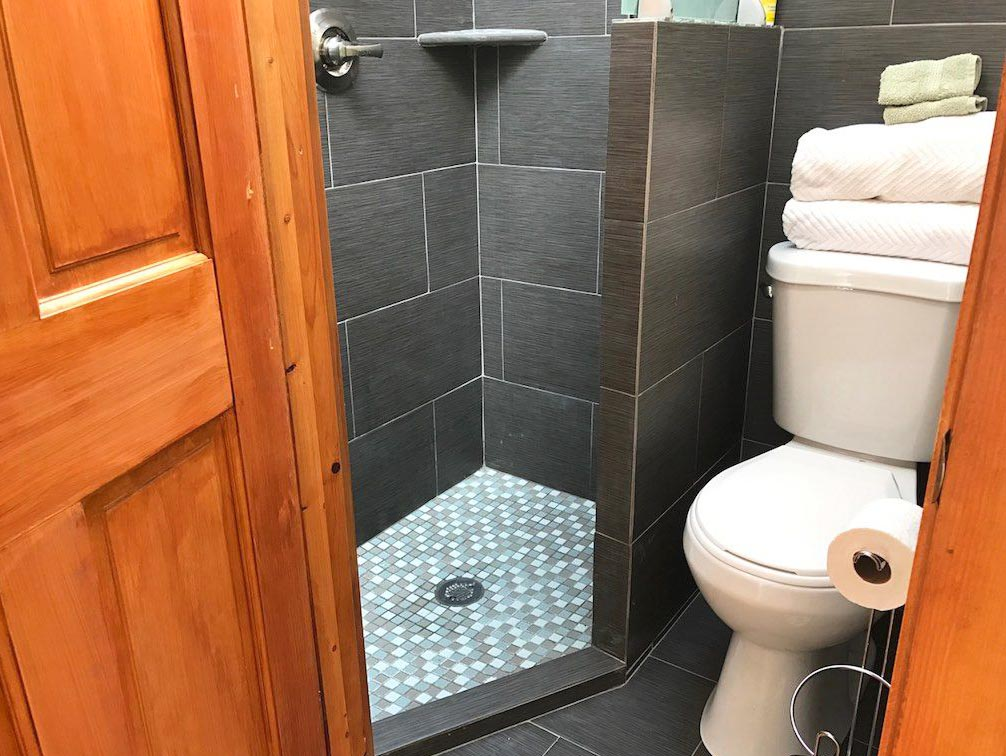Stylish Grid Walk-In Shower