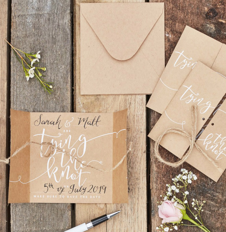 Simple Hand Lettering Invitation