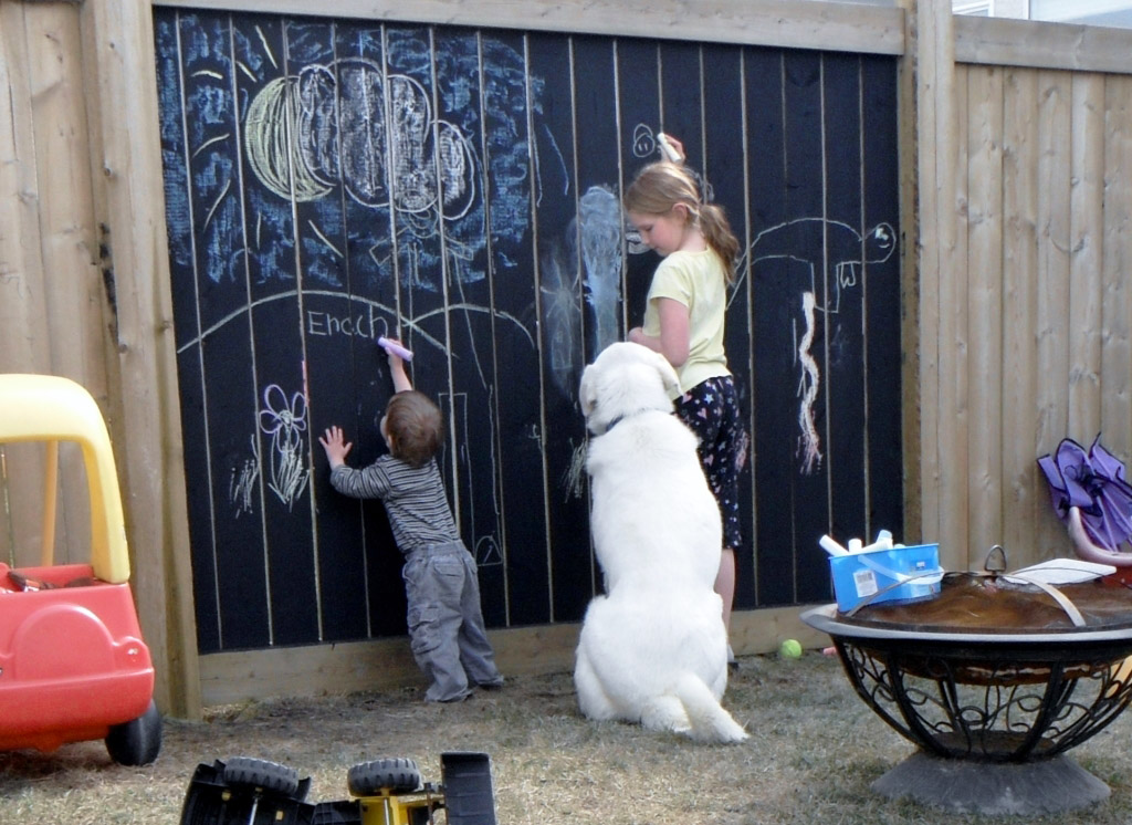 The Chalkboard Fence Idea